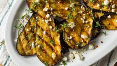 recette aubergine grillee et pesto de roquette