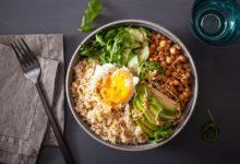Photo of Recette : Buddha Bowl aux perles de blé dur et champignons
