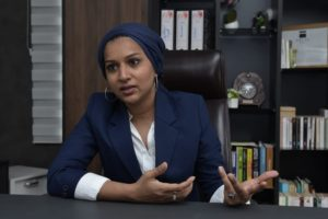 Tasleemah Joomun-Peerally, la directrice.